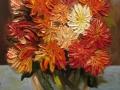 Астры в стеклянной вазе (масло, холст-картон, 35х50, 2012)