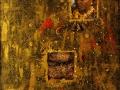 Африка (масло-янтарь-металл-стекло-пластика-фото, холст, 61х73, 1999)