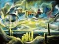 Город в облаках (пастель, 50х62, 1999)