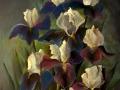 Ирисы (пастель, 50х62, 2002)