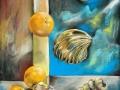 Падающие апельсины (пастель, 50х62, 1998)