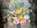 Букет цветов (шёлк, 67х84, 2008)